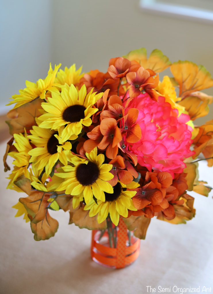 Combining Dollar Tree Flowers with Items I Already Have for the Perfect Fall Centerpiece