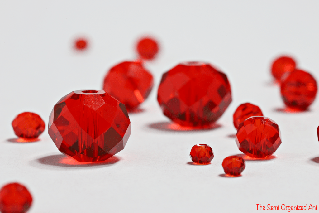 A Few Color Combinations For Red Beads