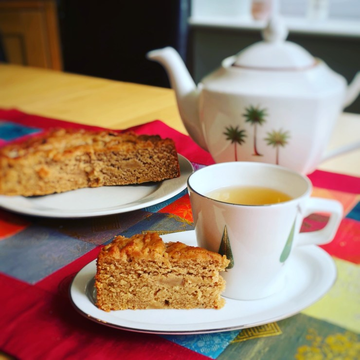 Apple cake for afternoon tea