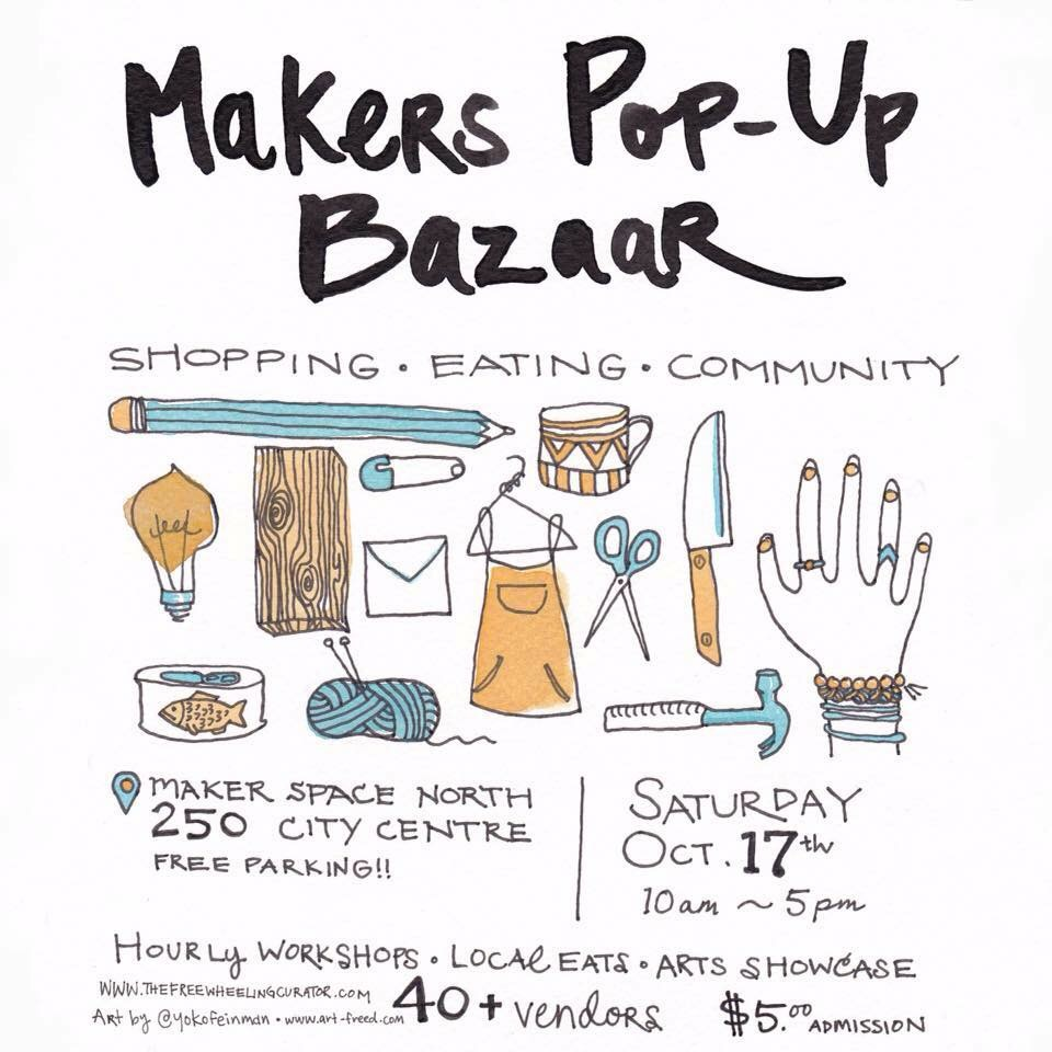 ottawa makers pop-up bazaar flyer