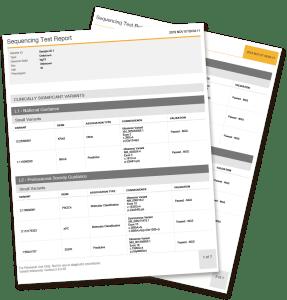kidney gene panel report