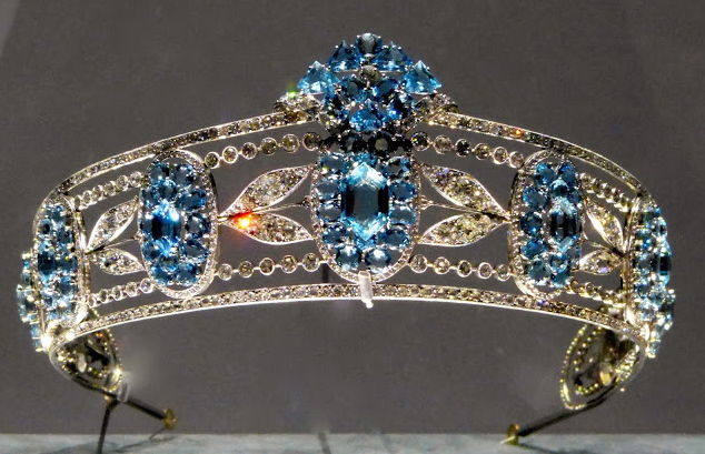Cartier aquamarine tiara