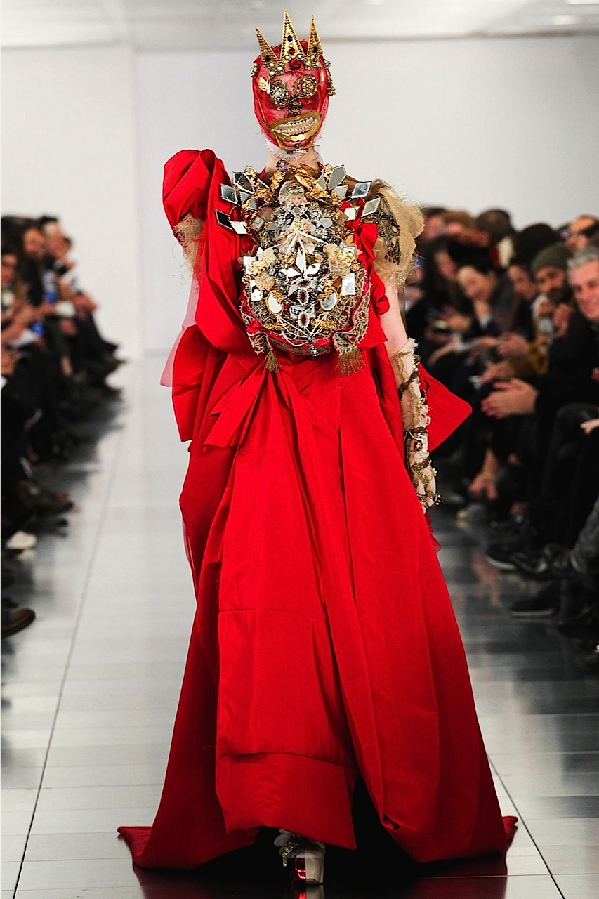Galliano red bride