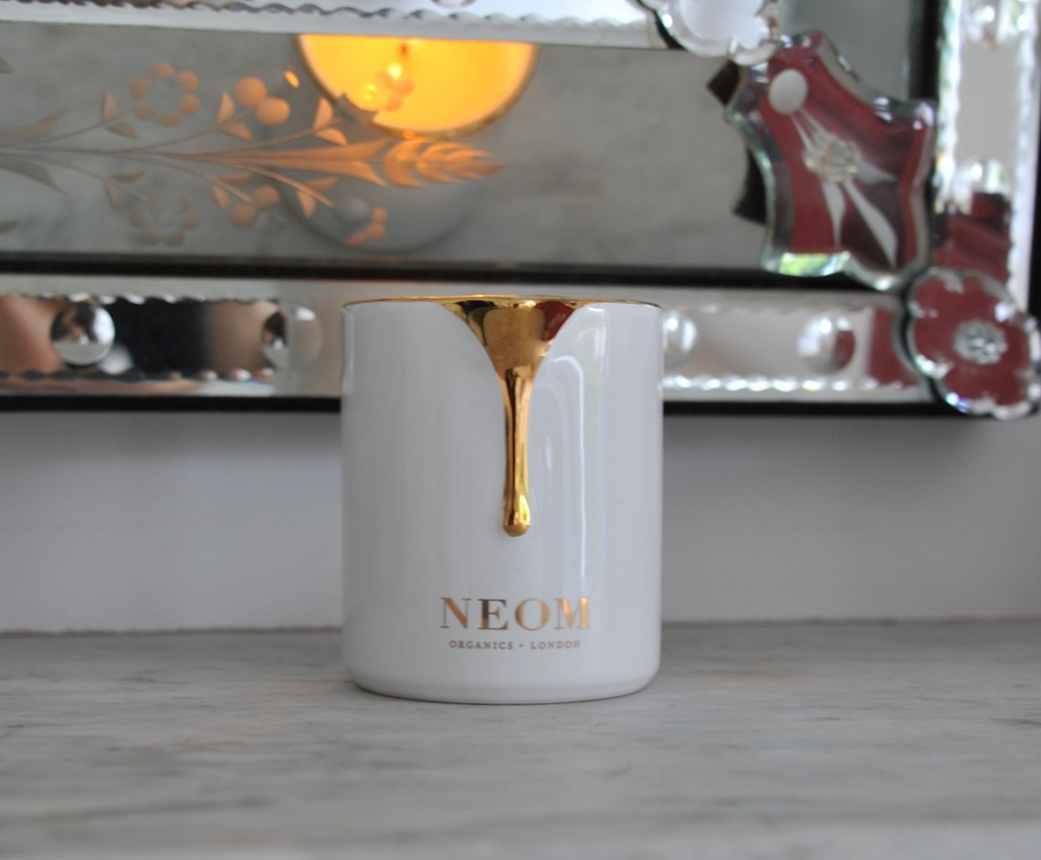 Neom candle at home