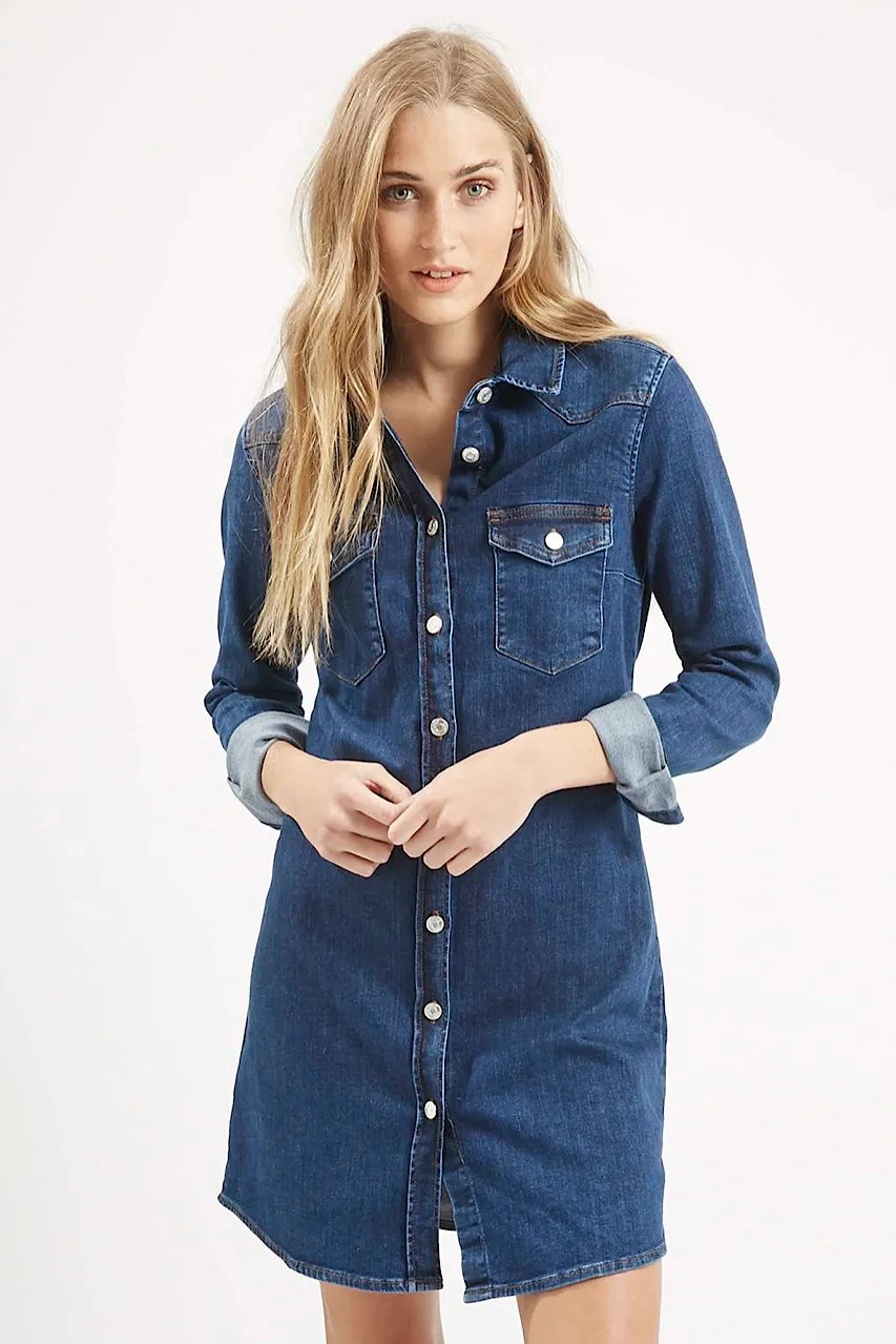 Topshop denim dress MOTO