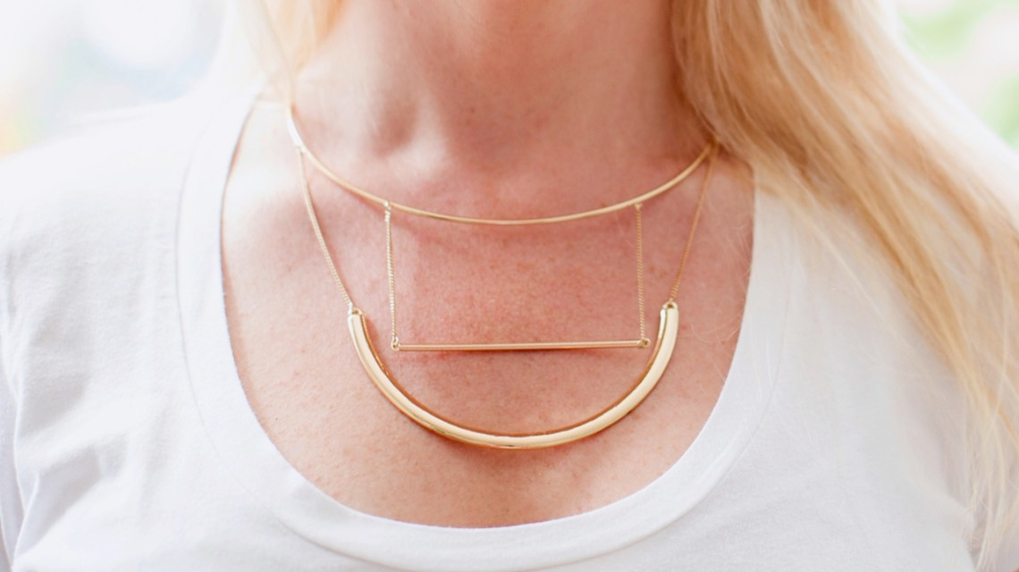 Topshop gold necklace
