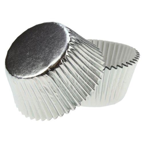silver cupcake casing