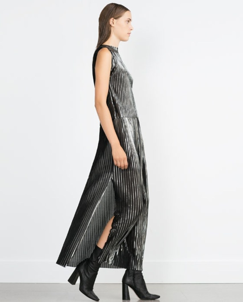 Zara metallic pleats