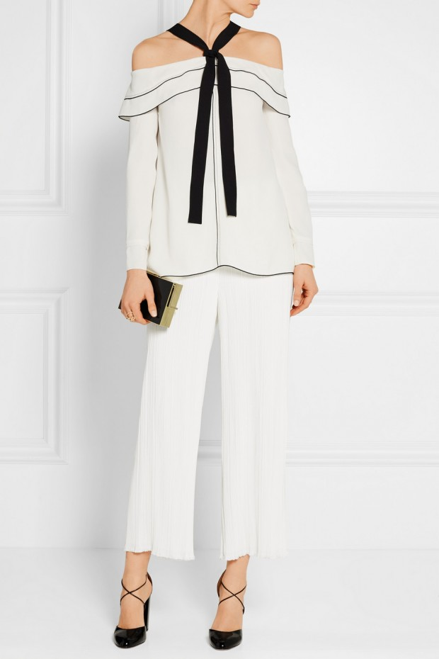Proenza Schouler bow tie off shoulder