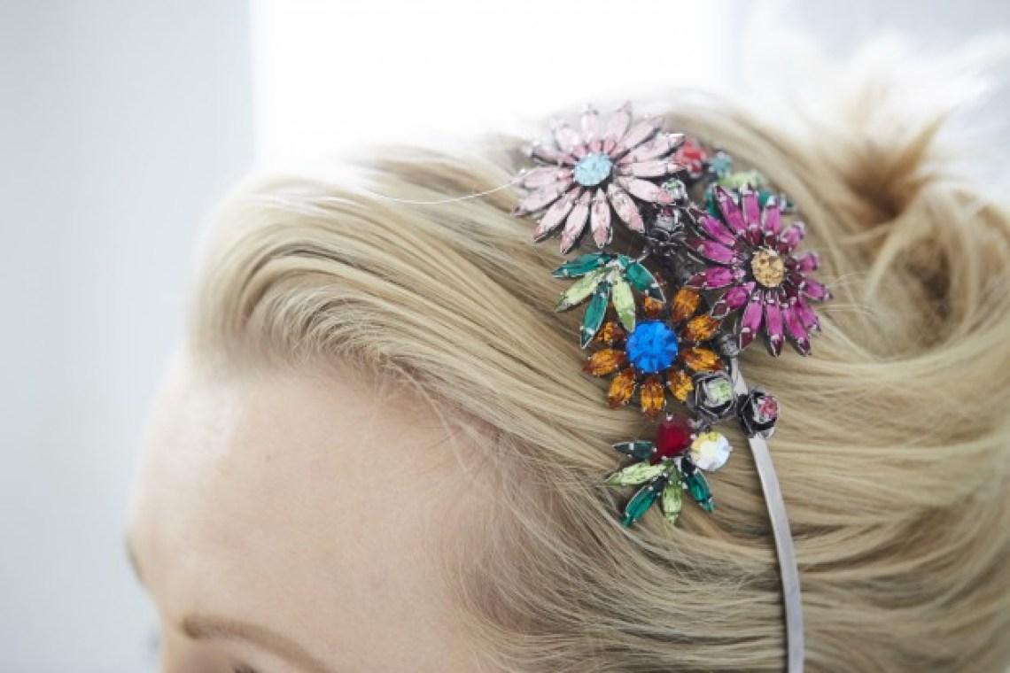 louis mariette headband swarovski floral