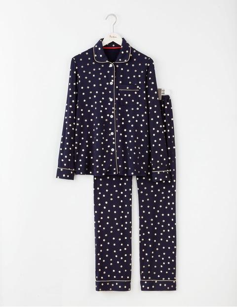 navy gold foil pyjamas