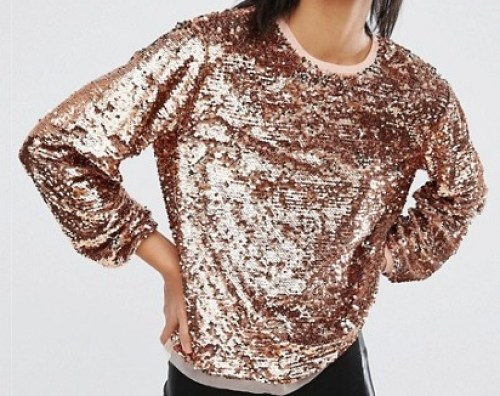 sequin gift top