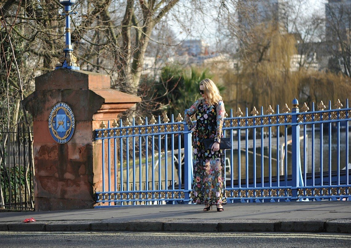 floral dress in Little Venice