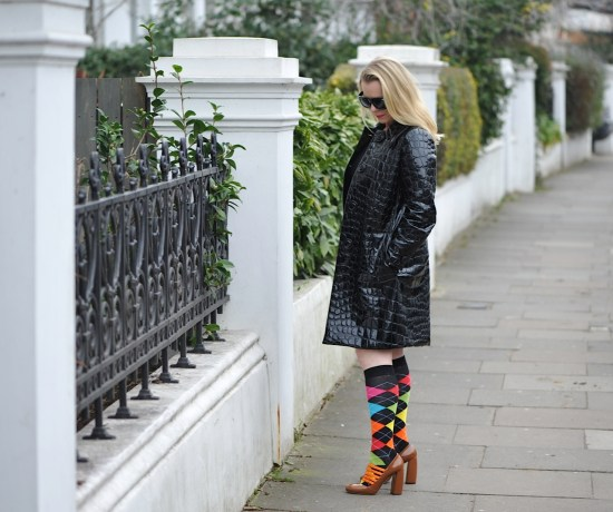 statement sock and coat