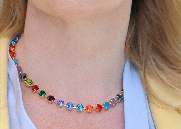 single strand rainbow crystal swarovski