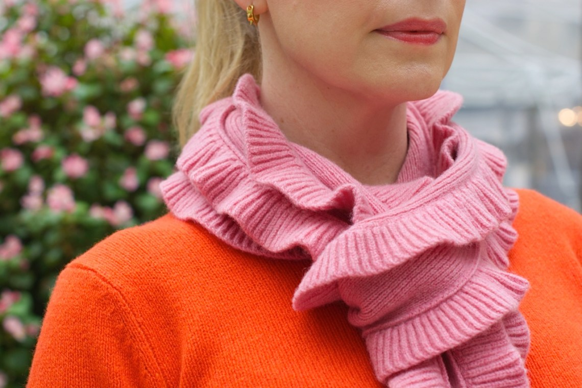 orange and pink knitwear