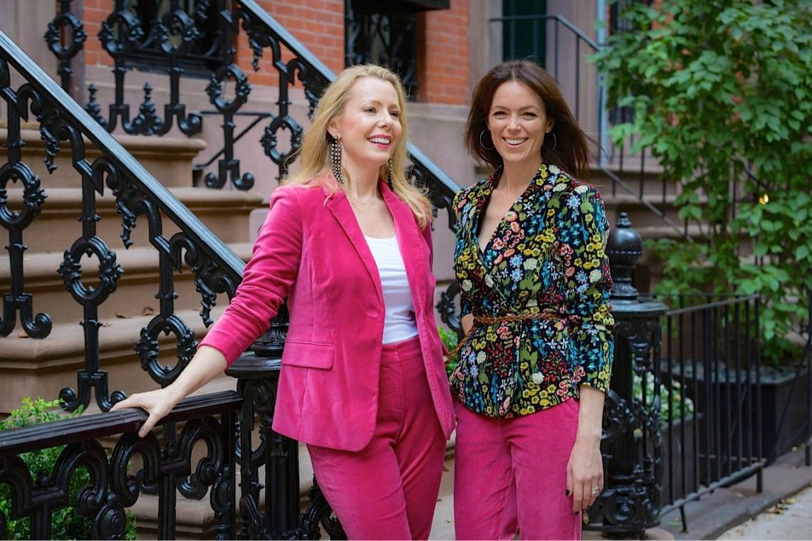 Pink Velvet Boden suits