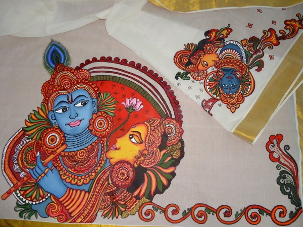 Mural Painting On Saree