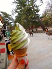 green tea ice-cream