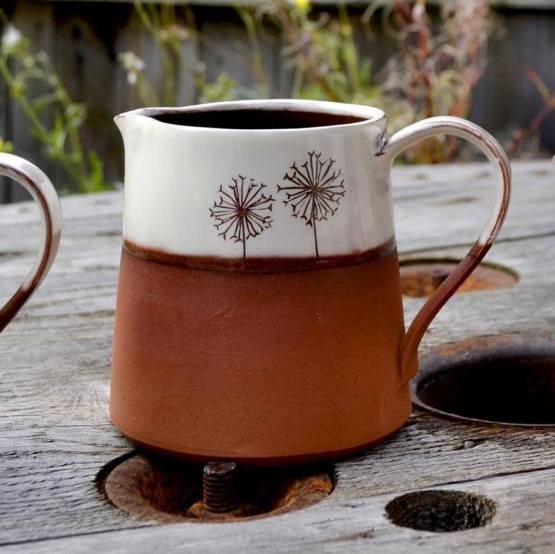 Wendy Calder Dandelion Ceramic Milk Jug