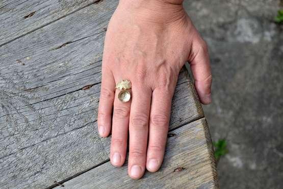 Oak Leaf & Acorn Ring Hand