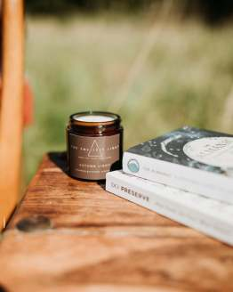 autumn light scented soy candle
