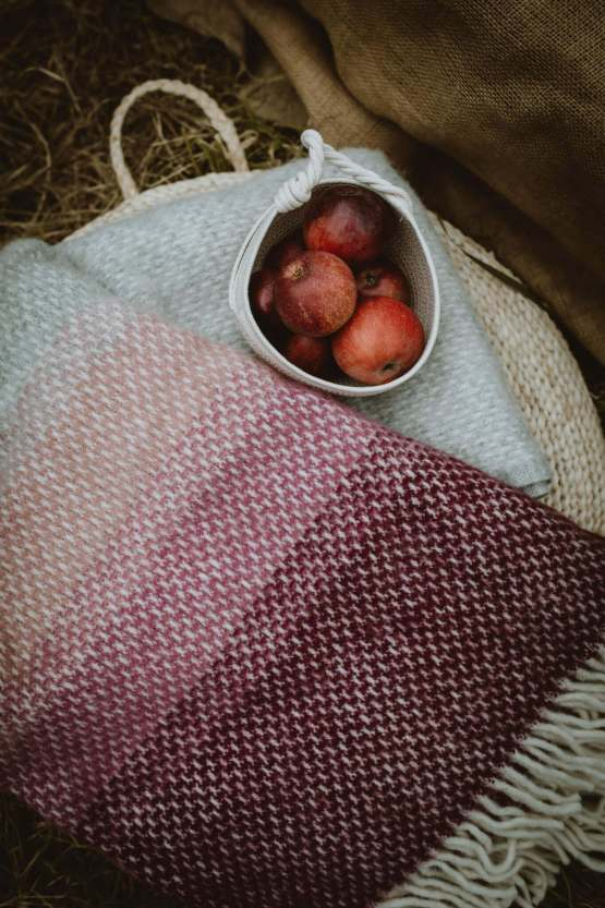 ombre berry blanket
