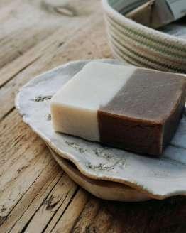 botanical print soap dish