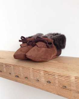 Rose Choules Baby Moccasin Chocolate Angle