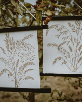 meadow grasses prints gold