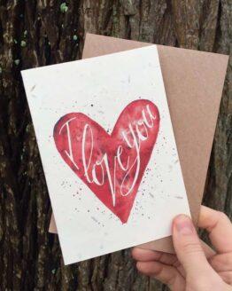 i love you plantable card