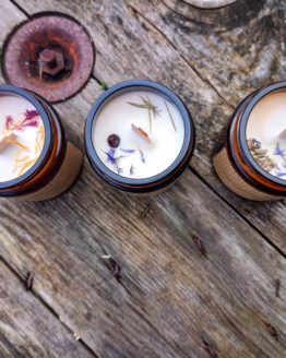 inside 3 betony and sage candles