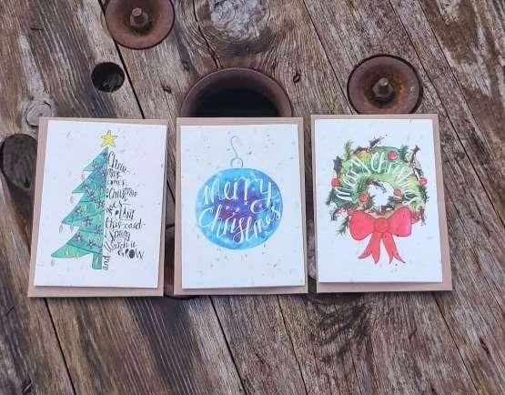 plantable Christmas cards