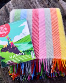 rainbow stripe blanket