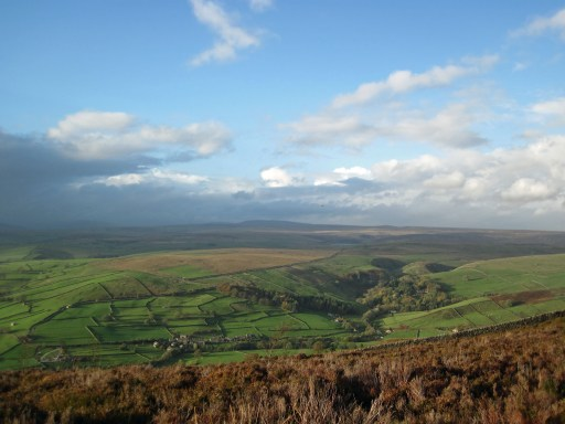 The Yorkshire Dales seen from Barden Fell.