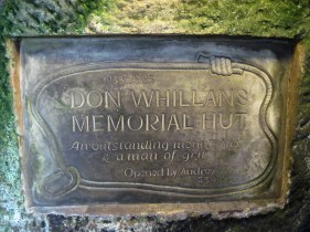 The memorial plaque in the Don Whillans Memorial Hut.