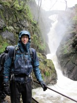 Me by Aira Force waterfall in the Lake District.