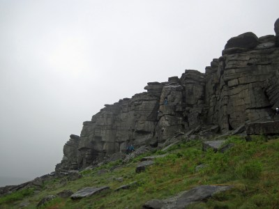 A wet Stanage Edge.