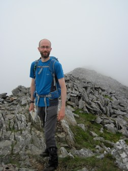 Me on the summit ridge of Eldir Fawr.