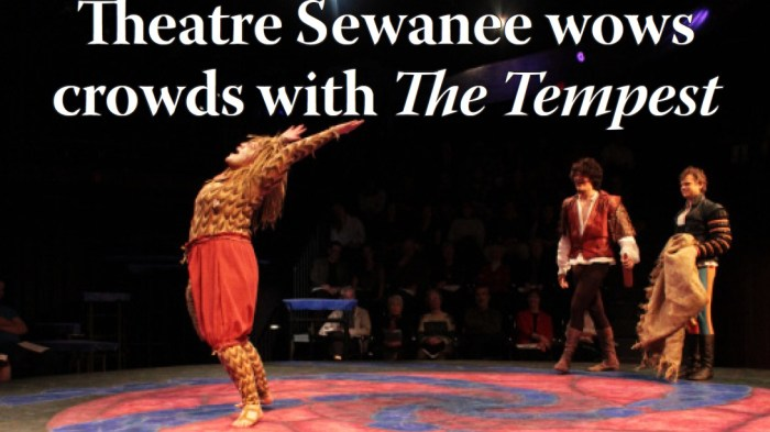 Shots of Theatre Sewanee's production of The Tempest