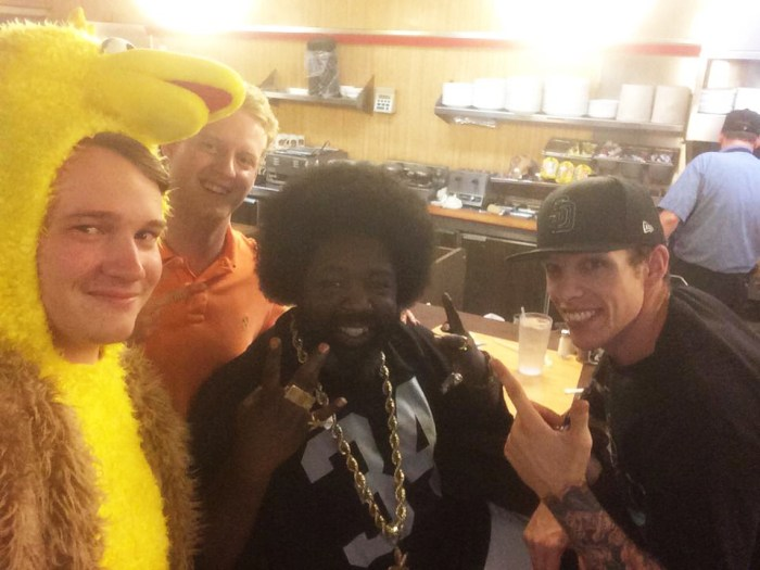 Afroman unwinds at Waffle House
