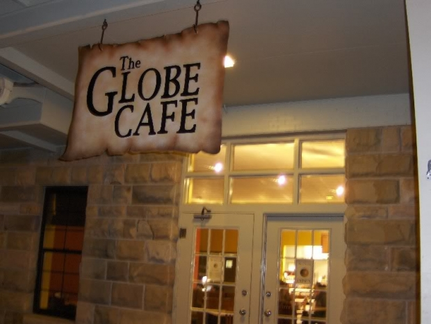The former Globe Cafe