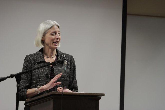Dr. Herzog gives her presentation