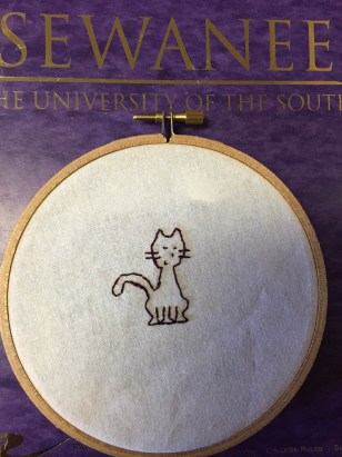 Simon's embroidered cat
