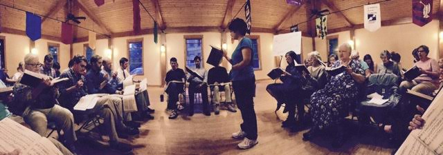 People participate in Sacred Harp singing
