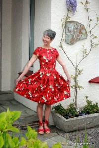 Scruffy Badger Red Dress
