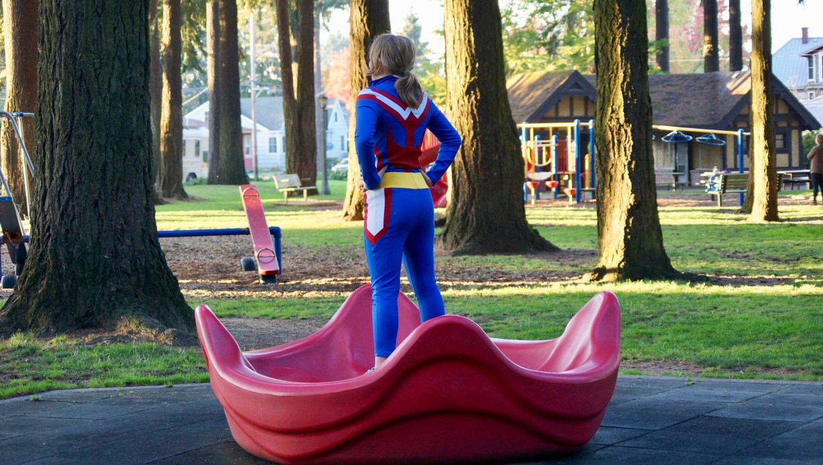 All Might at the park