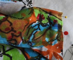 step 3 for facing on my Jeltje dress
