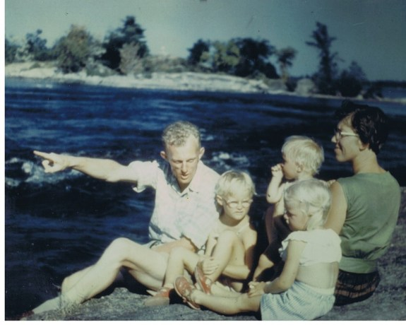 Jeltje with her family in the 1960's