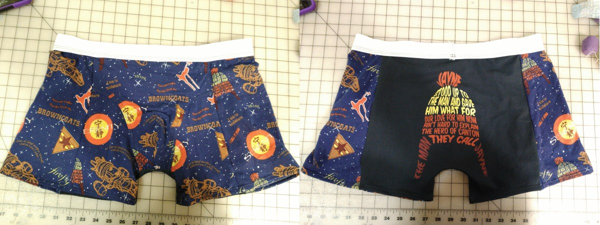 Sewn sample of the Freesewing.org boxer brief called Bruce